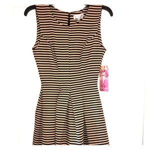 Black & Tan Stripped Dress
